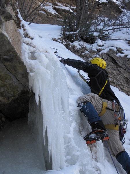 Rock Climbing Photo: first ice