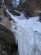 Rock Climbing Photo: skipping ice for dry tool rad gnar.
