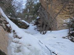 Rock Climbing Photo: passing stone