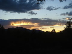 Rock Climbing Photo: Sunset from wilderness campground outside of Eleve...