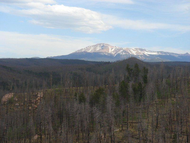 Pike's Peak from Turkey Rock.