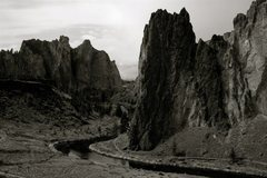 Rock Climbing Photo: Smith Rock State Park and Crooked River. View from...