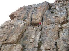 Rock Climbing Photo: Duncan just below the squeeze