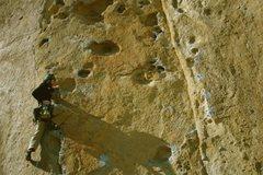 Rock Climbing Photo: Moving, low on 9-Gallon Buckets. 3/2009.