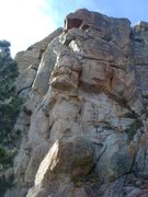 Rock Climbing Photo: Looking up the arete.  The route starts in the mid...