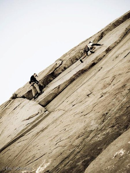 Rock Climbing Photo: Bill Odenthal (me) belayed by Nathan Fitzhugh, sho...
