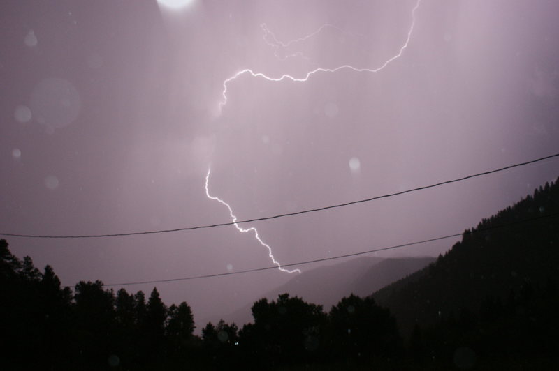 Rock Climbing Photo: Lightning from the Ute Pass Boulders!