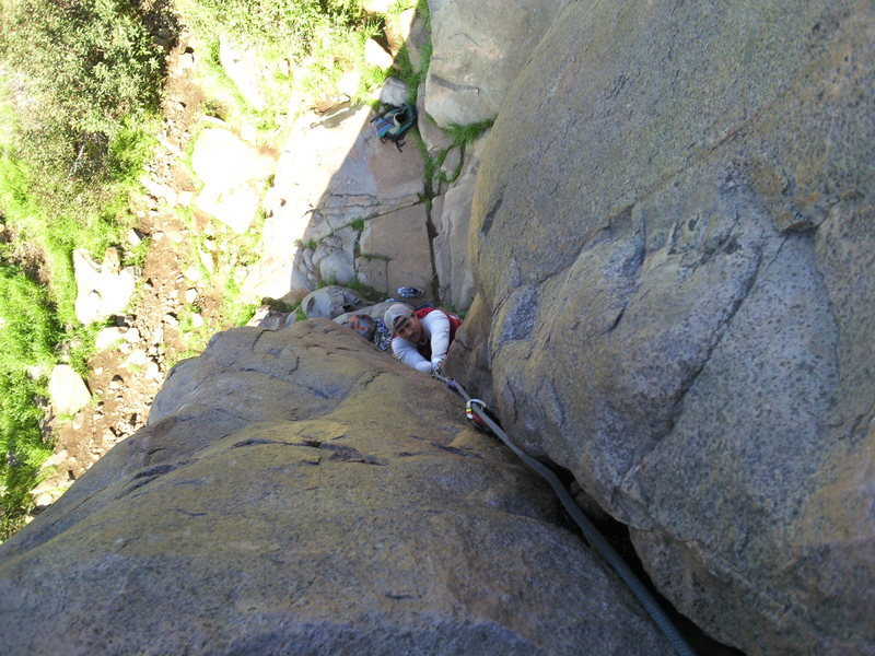 great route to access upper main wall climbs