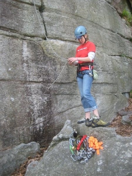 Rock Climbing Photo: At the base of Boston, Trapps, Gunks, NY