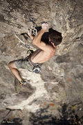 Rock Climbing Photo: Emile Mennin on The Ritual (5.13a), one of Shagg's...