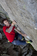 Rock Climbing Photo: Bill Morse at the crux of Diesel (5.13d). Photo: P...
