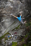 "Rock Climbing Photo: USM student flying on the ""5.12b"" crux o..."