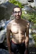 Rock Climbing Photo: Chris Duelin eats pieces of Shagg Crag for breakfa...