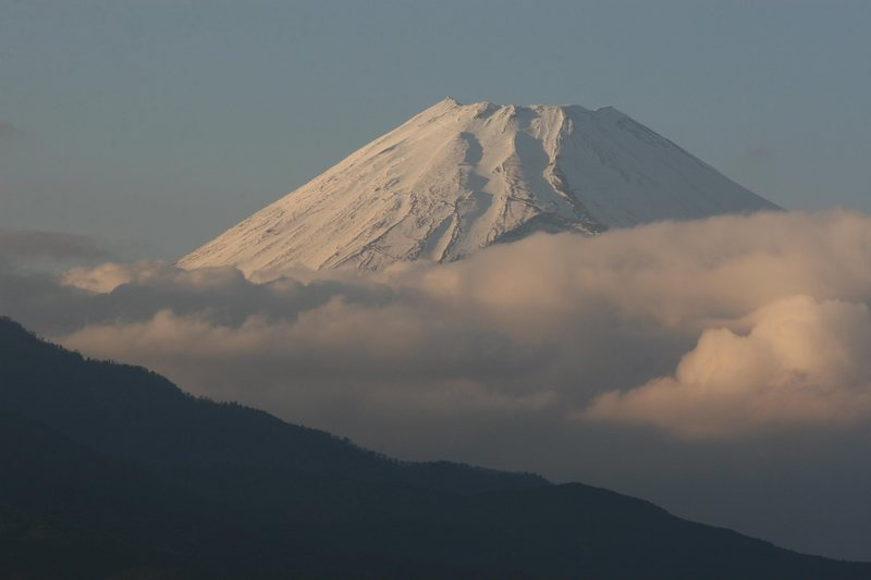 Fuji-san's SW side as viewed from Mishima