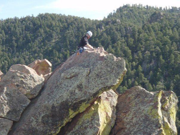 Rock Climbing Photo: First summit of First Flatiron