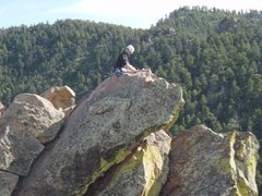 Rock Climbing Photo: First summit of First Flatiron