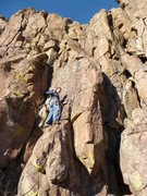 Rock Climbing Photo: At the first bolt with Hex at the ready. Photo: Ro...