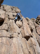 Rock Climbing Photo: At the second bolt and the most difficult moves.