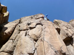 Rock Climbing Photo: Just above the crux.  Nothing is actually loose on...
