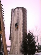Rock Climbing Photo: Jan. 2011. Silo ice in Illinois