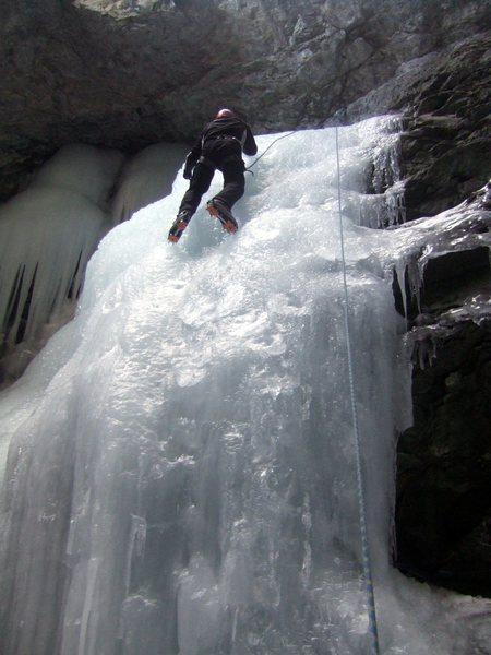 [[David Hertel]]106274703 climbing the smaller falls to the left. A little steeper but pretty short.