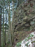 Rock Climbing Photo: Picture taken from the trail just before it flatte...