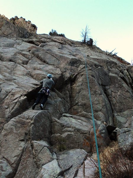 Rock Climbing Photo: A boltless wander.  You can also start just to Bri...