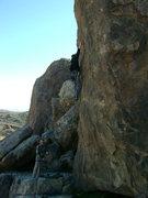 Rock Climbing Photo: Reed Ames leading Greedo.