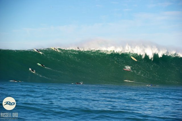 Russel Ord :<br> &quot;This is the photo of the wave that caused the incident at Mavericks.<br> Why post it here and not sell it to the highest bidder - Well I am happy to give it away, it means nothing to me in financial terms at all if authorities can meet with Maverick surfers and work out an agreement regarding safety/rescue and in the future that same agreement prevents the loss of life in the ocean, its a done job. So any media outlet that wants the photo please ask its yours but all I ask is that my views are represented correctly.&quot;