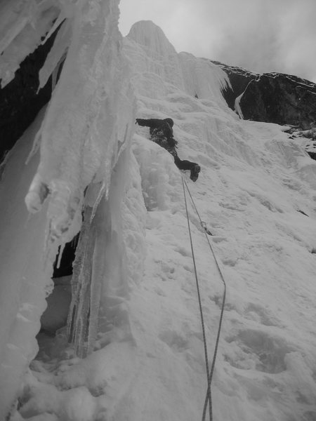 Rock Climbing Photo: Leading the last pitch in '08.