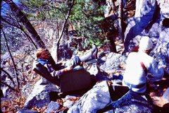 Rock Climbing Photo: Best Belay Seat Ever at Devil's Lake.  One day (ea...