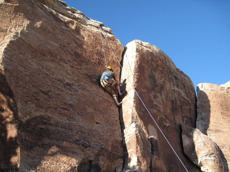 Rock Climbing Photo: A look at the dihedral/crack (5.8).