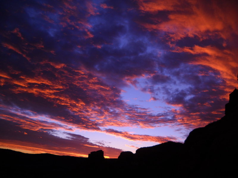 Rock Climbing Photo: Winter sunset from base of coyote tower.