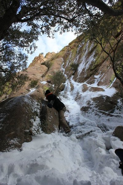 Rock Climbing Photo: Ewephoria was coated with ice and snow too...