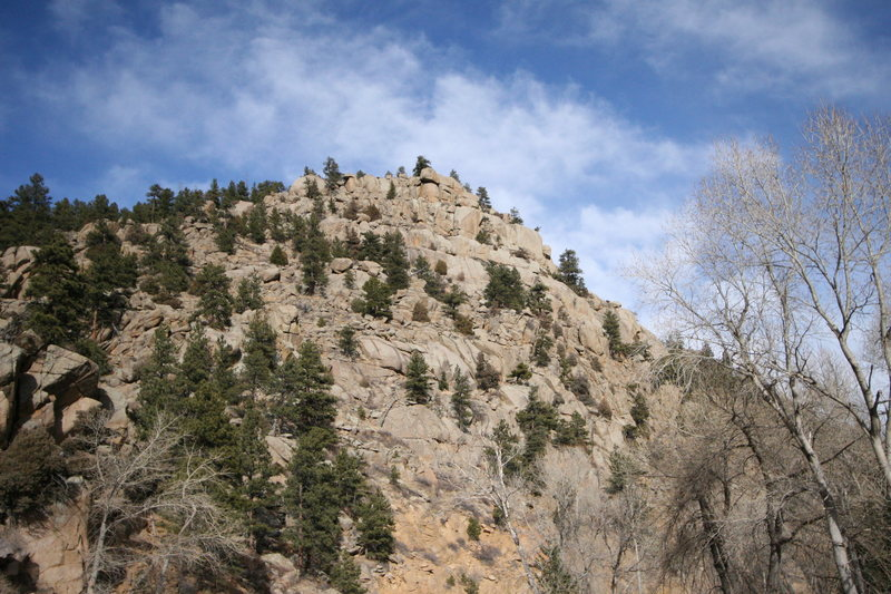 Rock Climbing Photo: Country-Western Crags from the road.