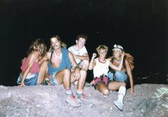Rock Climbing Photo: Sneaky night climbing In 70`s Chris,Knowles,Richar...