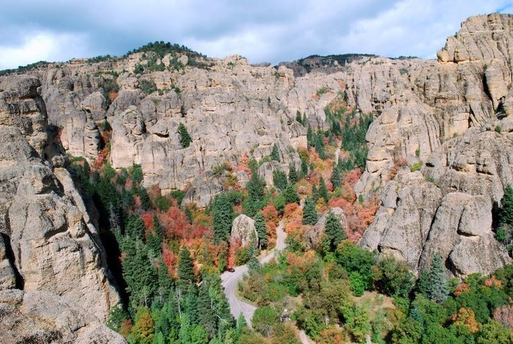 Rock Climbing Photo: View into Maple Canyon from the top of The Grecian...
