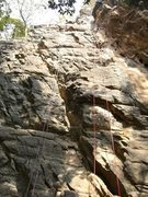Rock Climbing Photo: Climbs on the left most side of the cliff.