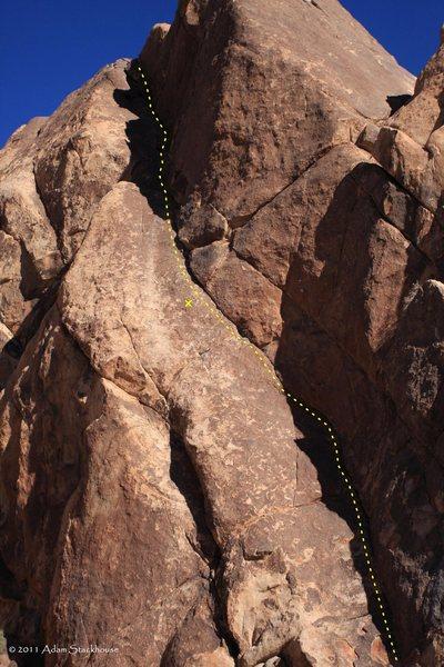 Rock Climbing Photo: Bolt location on the climb
