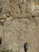 Rock Climbing Photo: Starting Riding the Cucumber 5.8