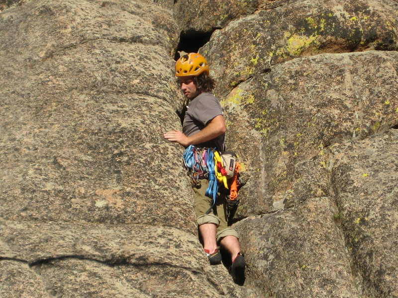 Rock Climbing Photo: There are hands in the back, Riding the Cucumber 5...