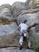 Rock Climbing Photo: Josh 1/3 the way up his own Trident, Josh's Triden...