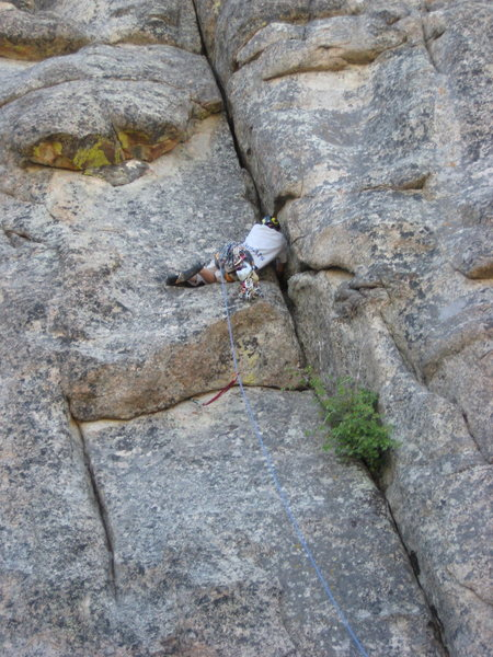 Rock Climbing Photo: Josh 'whale flopping' up his own trident, Josh's T...