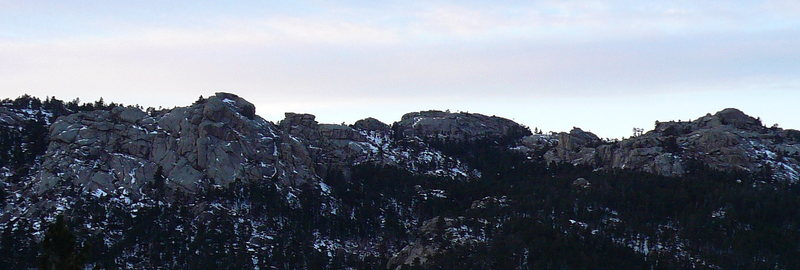 Crags in the Laramie Range
