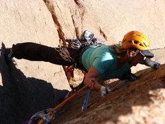 Rock Climbing Photo: Fallen Angels second pitch.  Sunshine Wall.