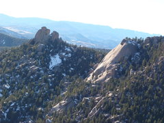Rock Climbing Photo: The Bishop and the Dome from Sunshine Wall.