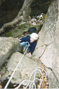 Rock Climbing Photo: Brittany Pace, age 7. Winter ascent.