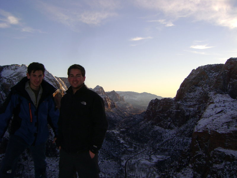 On top of Angel's Landing, January 2011