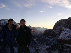 Rock Climbing Photo: On top of Angel's Landing, January 2011