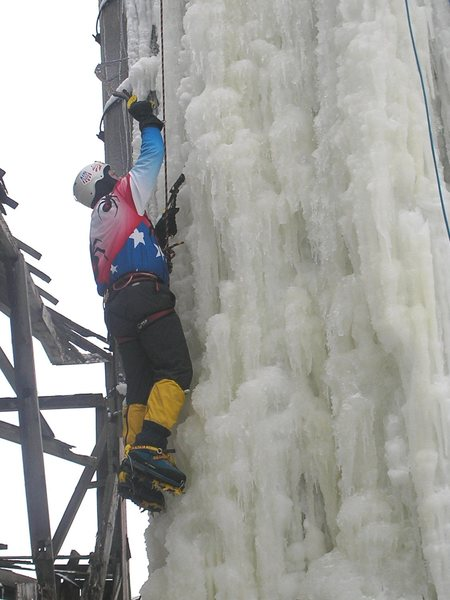 Steep thin ice